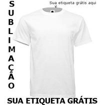 Camiseta Lisa 100% Poliéster Sublimação Atacado Sua Etiqueta