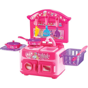 Fogãozinho Panelinha Cozinha Infantil Barbie Jogo Completo !