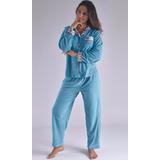 Pijama Pantalón Largo Térmica Invierno Mujer Femenina P3015