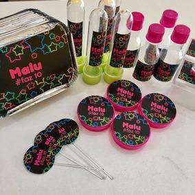 Kit 410 Itens Festa Personalizado Balada Neon 2