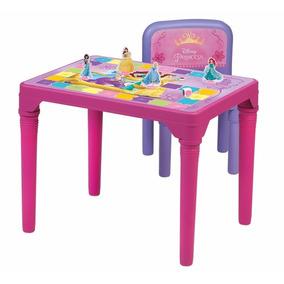 Linda Mesa Princesas Mesinha Infantil 1 Cadeira Multibrink