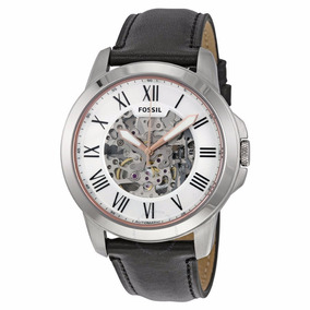 Reloj Fossil Me3101 Grant Automatic Caballero Skeleton Piel*