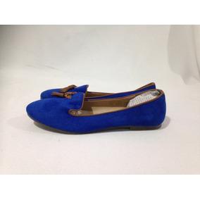 Zapato Tipo Chinita Dimen Azul 100% Textil N*37 Azul Rey