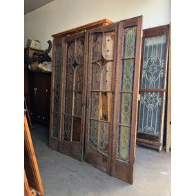 Antiga Porta De Duas Folhas Vitral !! Código #581