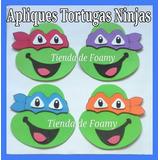 Apliques Antifaz Foami Figuras Tortugas Ninjas Cotillón