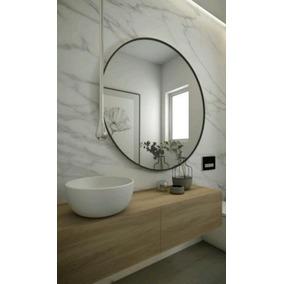 espejo redondo circular de pared colgante cm marco hierro