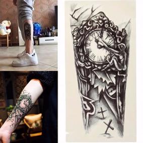 Tatuagem Rena Tattoo A Prova Dágua Relógio 3d Bracos Perna