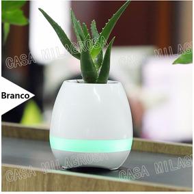Vaso De Planta Digital Com Bluetooth Toca Musicas Led Sensor