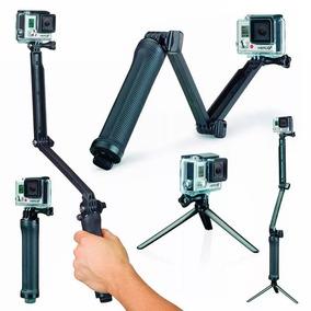 Kit Gopro Bastão 3 Formas Para Camera Completo Selfie