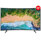 Televisor Samsung 49 Smart Tv 4k Curvo Nu7300 Led Negro