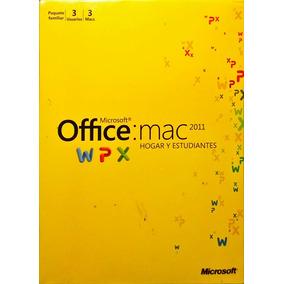 Office 2011 Mac Hogar Y Estudiantes Caja Sellada 3 Usuarios