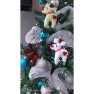 Renos Para Decorar Árbol De Navidad De Fieltro 3 Pzas