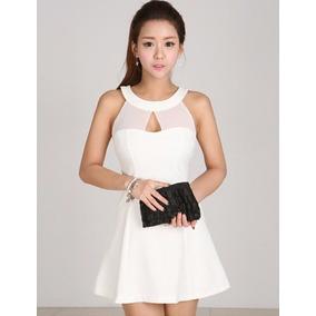 Hermoso Vestidos Blanco Y Negro Cortos