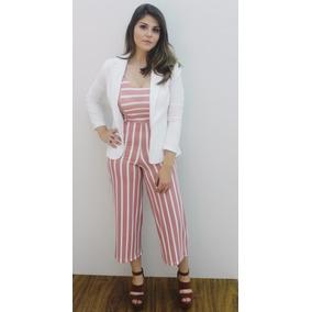 Macacão Pantacourt Fashion Versátil