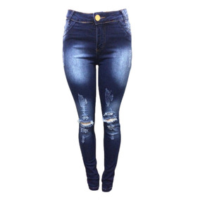 Calça Jeans Feminina Rasgada Destroyed Roupas Femininas