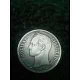 Moneda Antigua 5 Bolivares De Plata