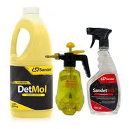 Shampoo Detmol 1,9l + Sandet 955 750ml + Pulverizador 1l *