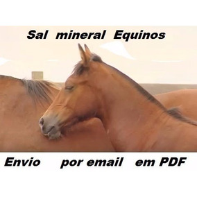 10 Formulas Ração Equinos +10 De Sal Mineral + 3 Brindes