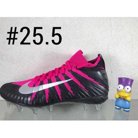 Tachones Cleats Football Americano Nike Menace Negro rosa f6ca3a59c6219