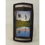 Capa Silicone Preta Sony Ericsson Vivaz U5 U 5 Celular