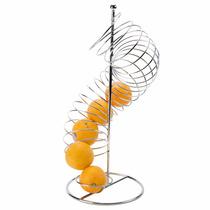 Frutero En Espiral Metálico Cítricos Decoración Buffet
