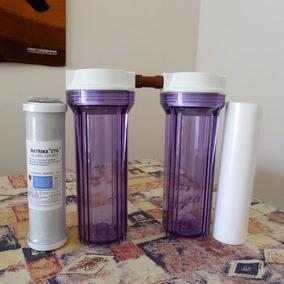 Filtro Agua Bajomesada Doble. Carbón Activado + Sedimentos