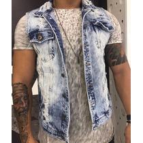 Colete Jeans Masculino Degrant Top Rasgado 2017 P/ Entrega