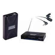 Microfono Inalambrico Corbatero Audiosonic Vhf Lx101l Fuente