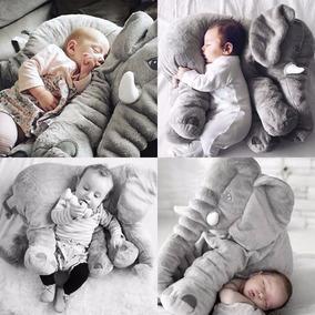 Almofada Elefante Travesseiro 60 Cm Baby Cinza Frete Grátis!