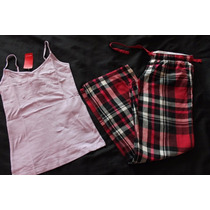 Aeropostale Forever 21 Set Pijama Cuadros Talla Chica