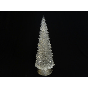 Árbol De Navidad Con Luz Tipo Cristal 18cm
