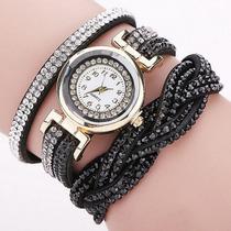 Reloj De Mujer Brazalete Con Diamantes Marca Rhinestone