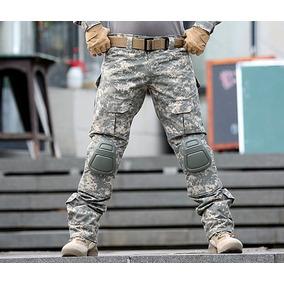 Pantalón Moto Con Protecciones Rodillera Táctico Combate