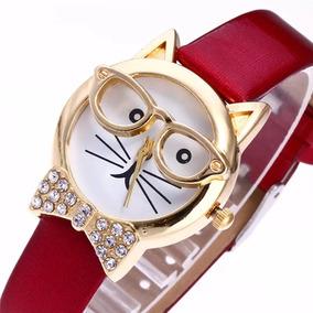 Reloj De Gato Con Gafas, Regalo Para Mujer