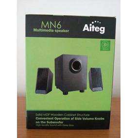 Cornetas Multimedia 2.1 Aiteg Mn6t Sd Usb Fm Bluetooth Nueva