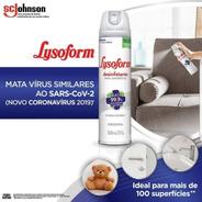 3 Lysoform Spray Para Limpeza Prevenir Doenças Transmissão