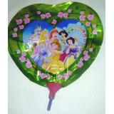 Globo De Princesas 19 Cm. Decoraciones Fiestas Cumpleaños