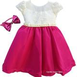 Vestido Infantil Festa Luxo Barbie Pink Marsha Promoção