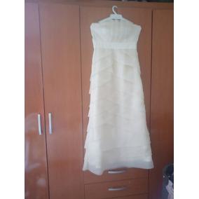 Vestido De Novia Tipo Corsel Color Champange