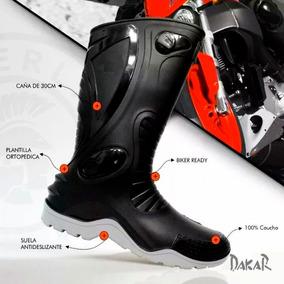 Impermeables Botas Dakar Moto Motociclista Unisex Suela Gris