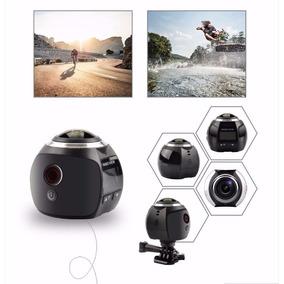 Filmadora Câmera 360º Graus Panorâmica Wifi - Ws360b
