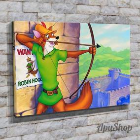 Cuadros 45x30 Robin Hood Disney Infantiles Chicos Dibujos