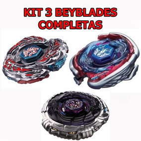 Kit 3 Beyblade Metal L.dragon+big Bang Pegasis+diablo Nemesi