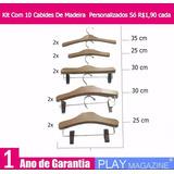 Kit Com 10 Cabides De Madeira Personalizados Só R$1,90cada
