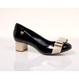Sapato Feminino Peep Toe Marca Do Grupo Carmen Steffens Orig