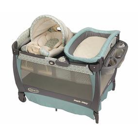 Graco Cuddle Winslet Corral Cuna Bebe Recién Nacido Cambiado