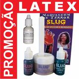 Latex + Slug Kit Maquiagem Terror Halloween Teatro Fantasias
