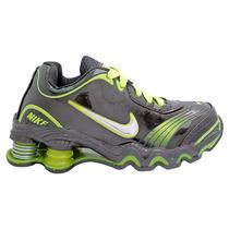 Tênis Infantil Nike Shox Turbo Preto E Verde Limão