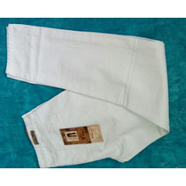 Pantalon Blanco Semi Tubo