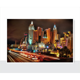 Placa Decorativa - Vintage - Las Vegas - Cidades